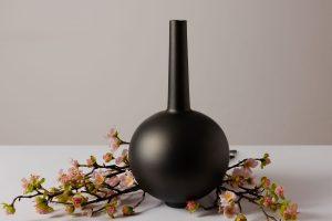 Decorama Rotunda Jar Metallic Black