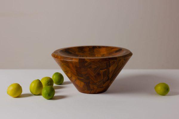 Decorama Checkered Bowl Palisander